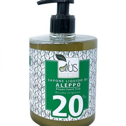 Sapone liquido Total Body di Aleppo 20% all'olio di alloro della Alus