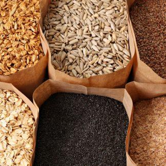 Legumi, chicchi, semi e cereali
