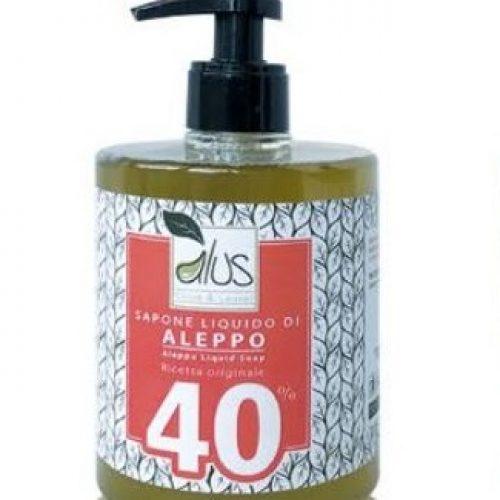 Sapone liquido Total Body di Aleppo 40% all'olio di alloro della Alus