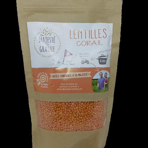 Lenticchie Rosse senza glutine della SAS Berry Graines, cottura 6 minuti, 350g