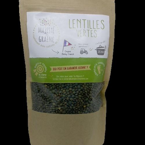 Lenticchie Verdi senza glutine della SAS Berry Graines 350g