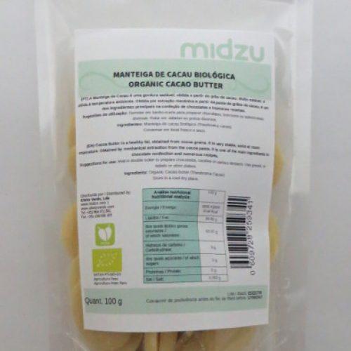 Burro di cacao biologico della Midzu 100g