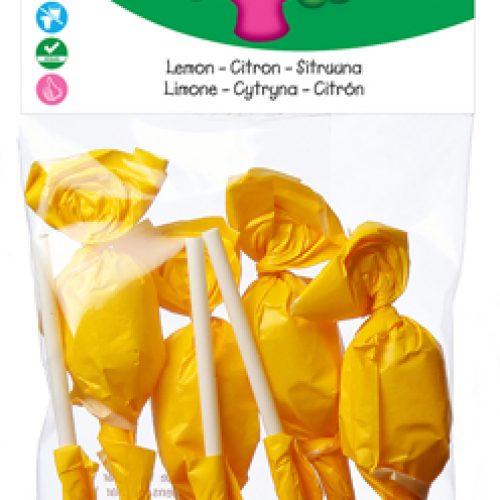 """Lecca Lecca """"Randello"""" biologici al limone 70g della Candy Tree"""