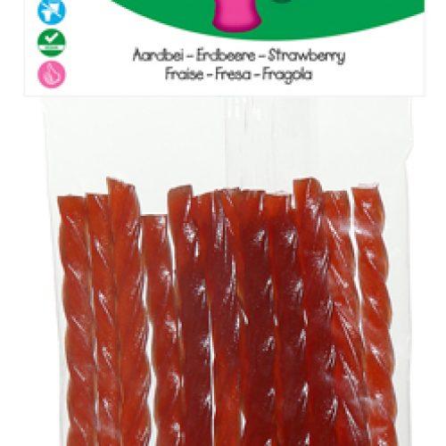 Bastoncini di Fragola Biologica Senza Glutine 75g della Candy Tree