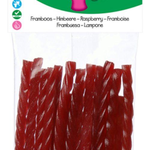 Bastoncini di Lampone Biologici Senza Glutine 75g della Candy Tree
